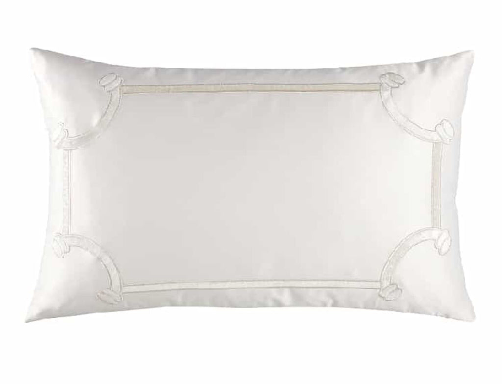 Lili Alessandra Vendome Ivory Lumbar Rectangle Pillow