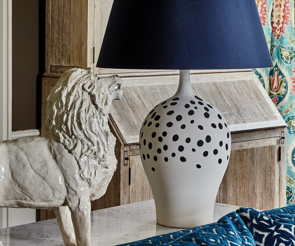 William Yeoward Angelica Indigo Table Lamp | Fig Linens and Home