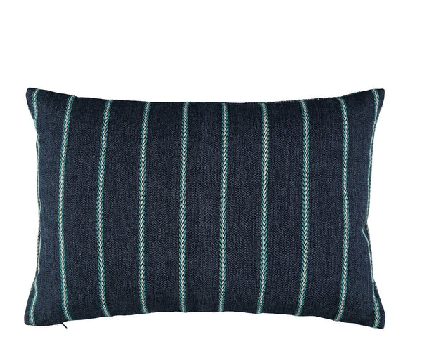 William Yeoward Alicia Peacock Decorative Pillow Reverse to Smaller Stripe