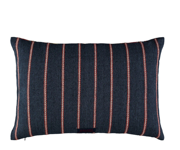 William Yeoward Alicia Rouge Decorative Pillow - Reverse to small stripe