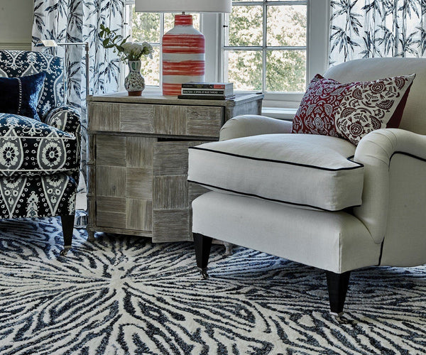 Flavia Blues Rug - William Yeoward at Fig Linens and Home