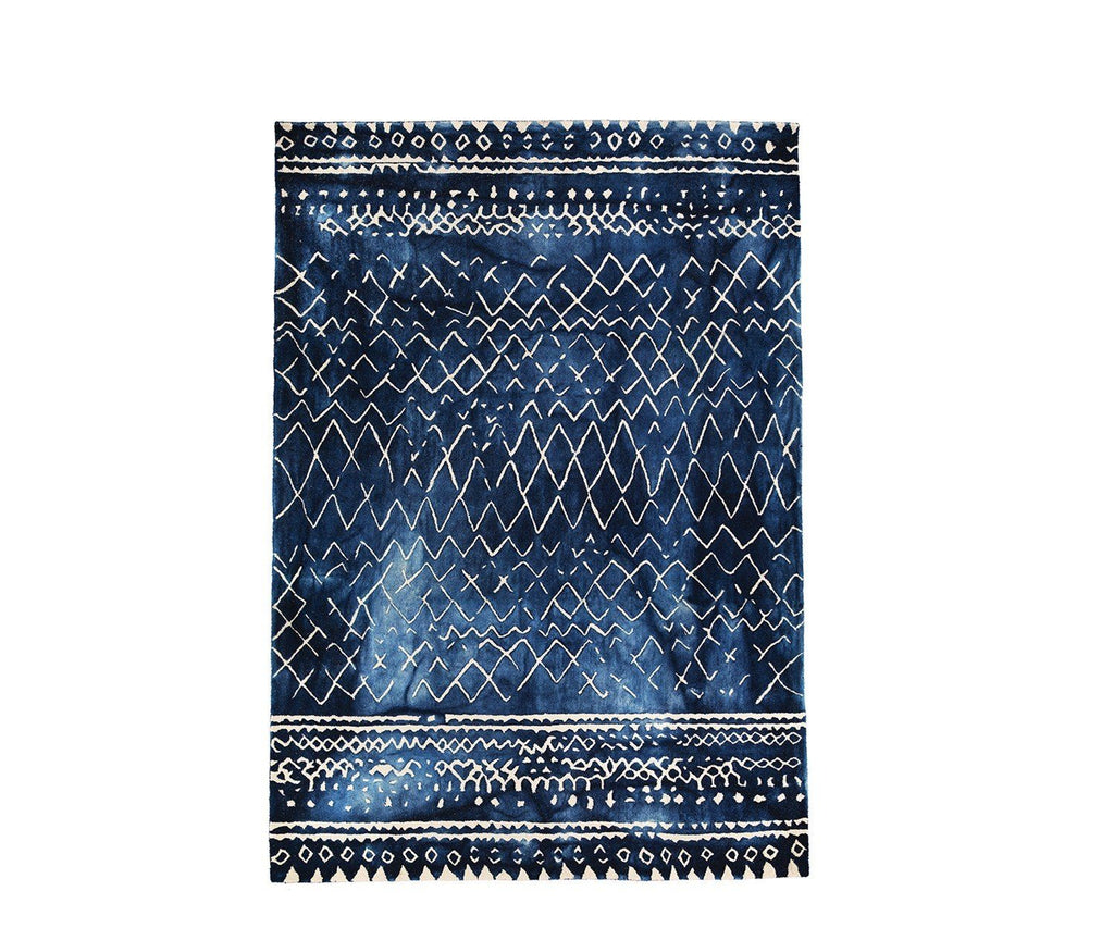 Mariah Indigo William Yeoward Rug | Fig Linens