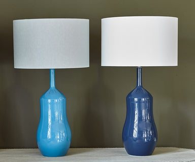William Yeoward Appia Indigo & Peacock Lamps - Fig Linens and Home