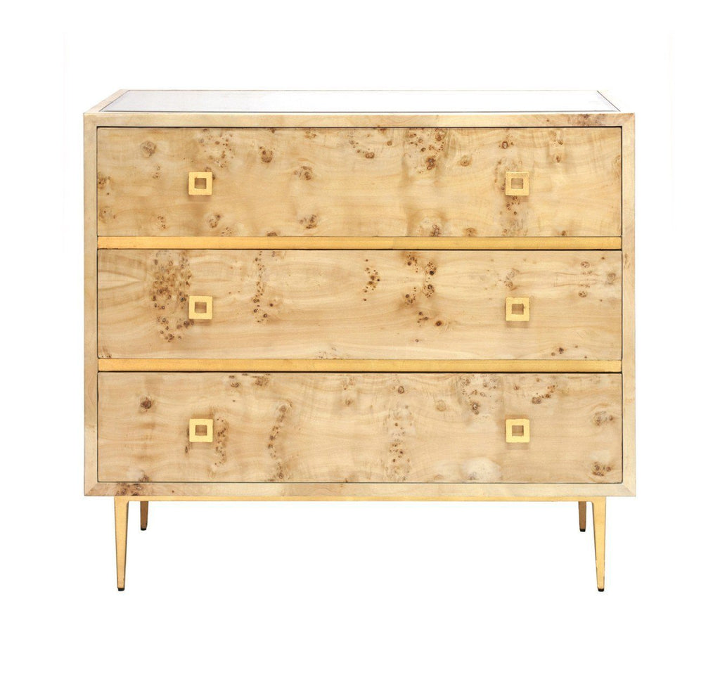 Hudson Drawer Chest with Gold Leaf Hardware | Fig Linens and Home