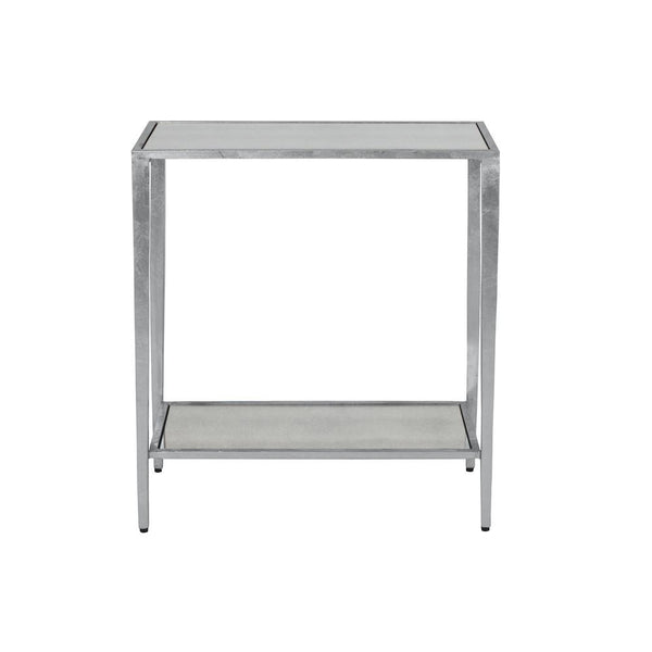 Joyce Silver Side Table | Worlds Away at Fig Linens