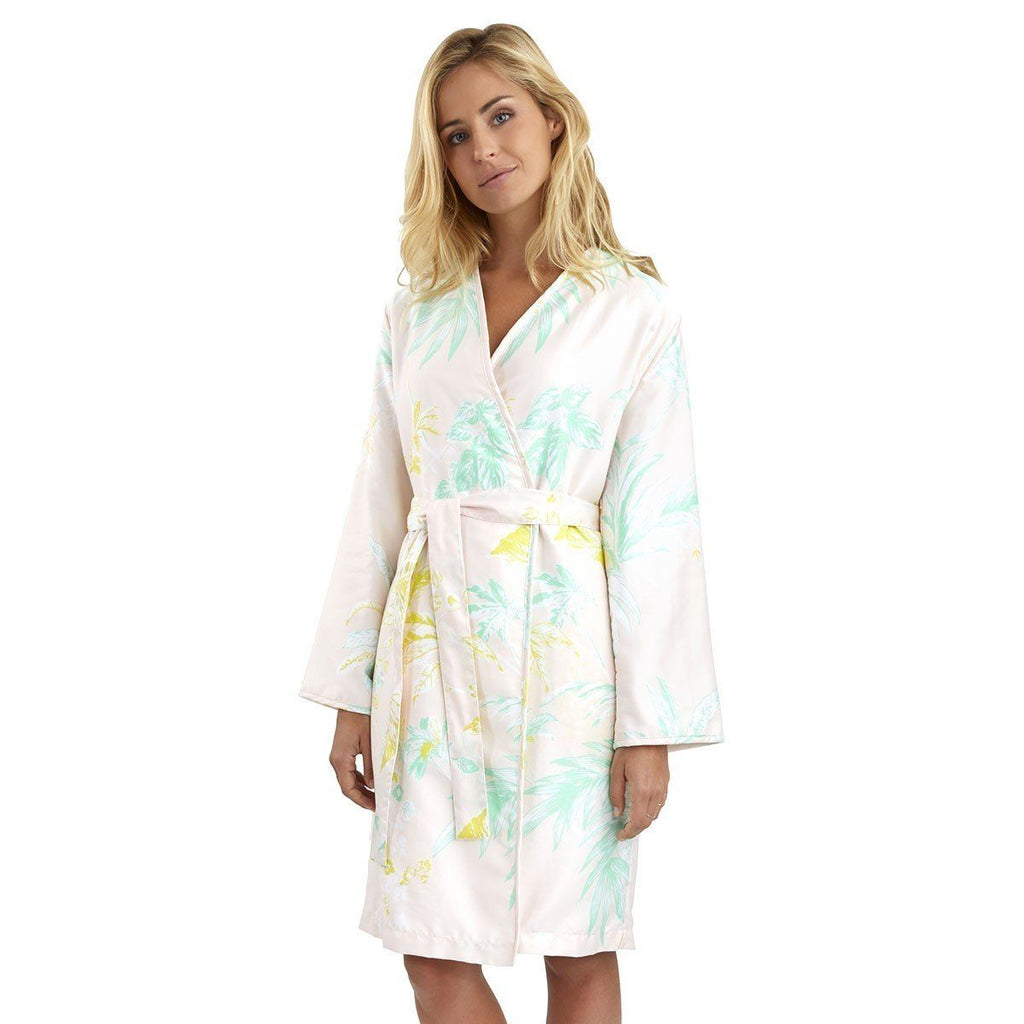 Ete Kimono Bath Robe by Yves Delorme - Fig Linens - Front View