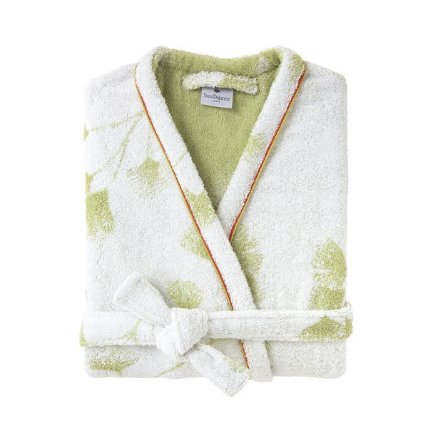 Yves Delorme Ginkgo Bath Robe - Folded | Fig Linens and Home
