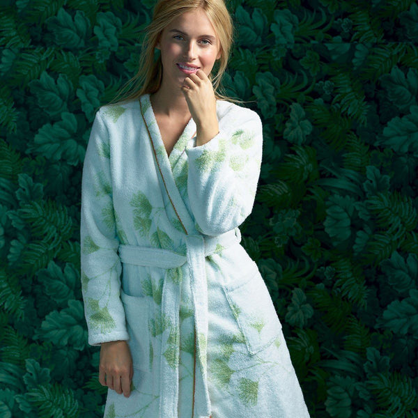 Yves Delorme Ginkgo Bath Robe | Fig Linens and Home