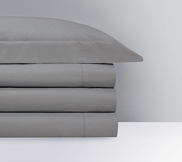 Roma Platine Gray Bedding Collection by Yves Delorme | Fig Linens, duvet cover, sheets, sham