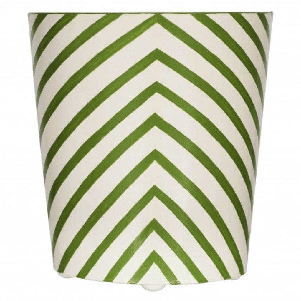 Zebra Oval Wastebasket in Green - Shop Bath Accessories at Fig Linens