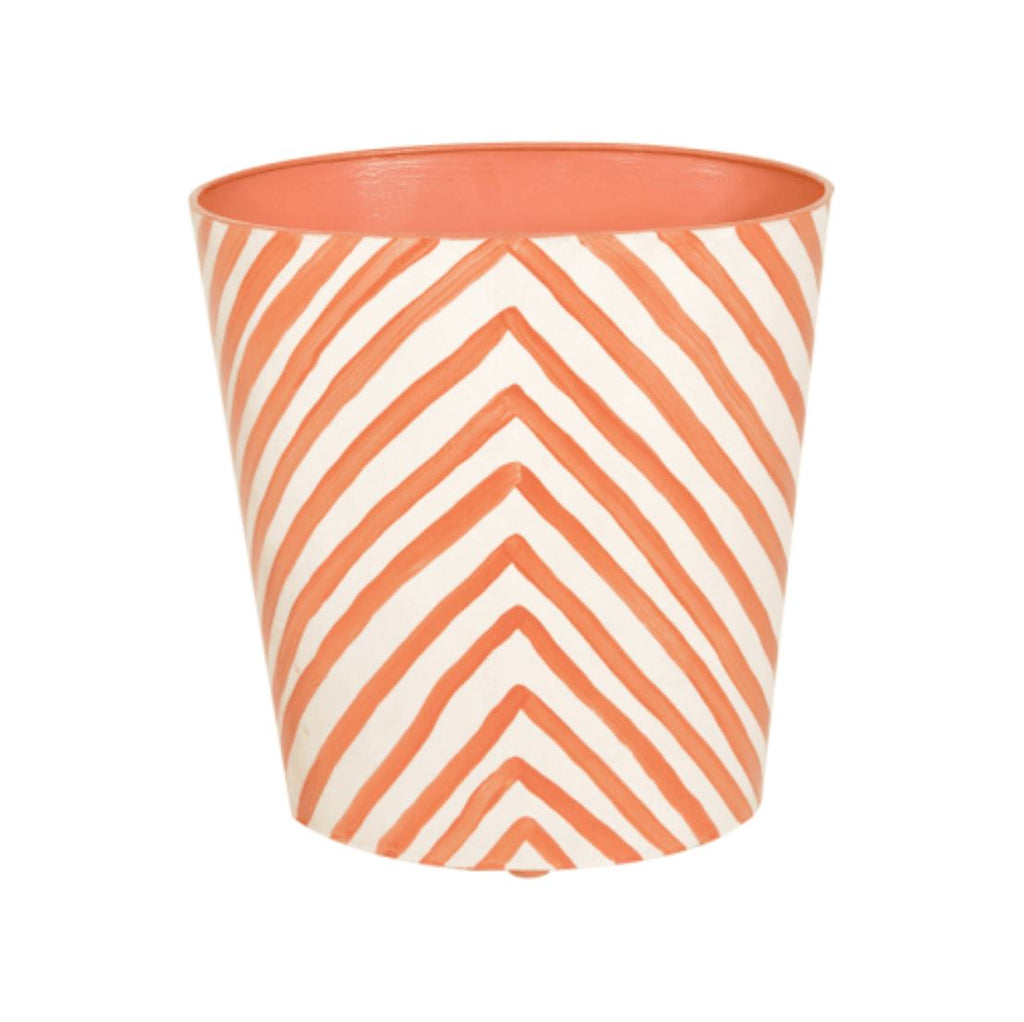 Zebra Oval Wastebasket in Orange - Shop Bath Accessories - Fig Linens