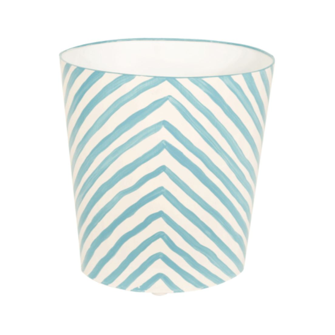 Zebra Oval Wastebasket in Turquoise - Shop Bath Accessories