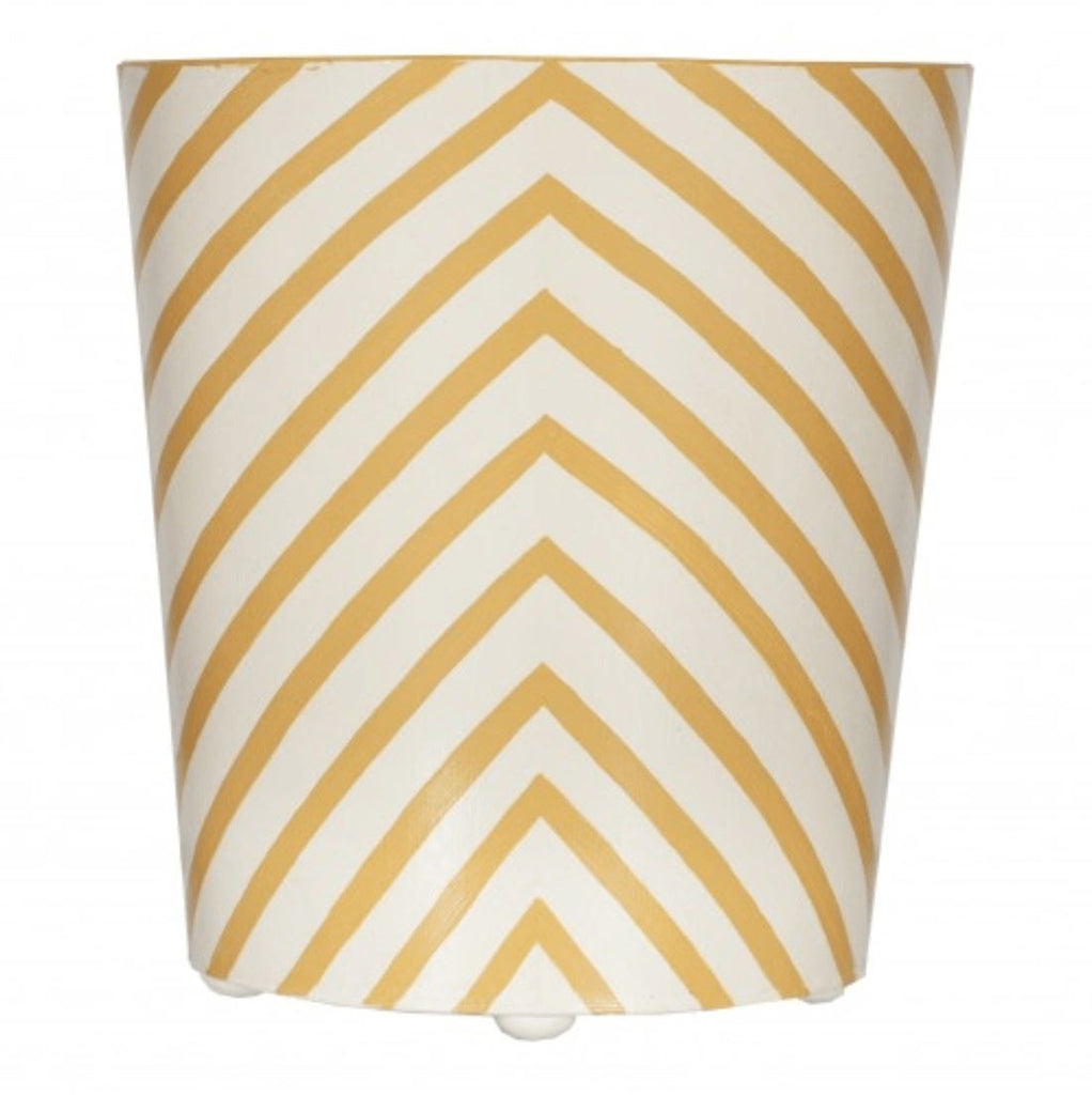 Zebra Oval Wastebasket in Yellow - Bath Accessories at Fig Linens