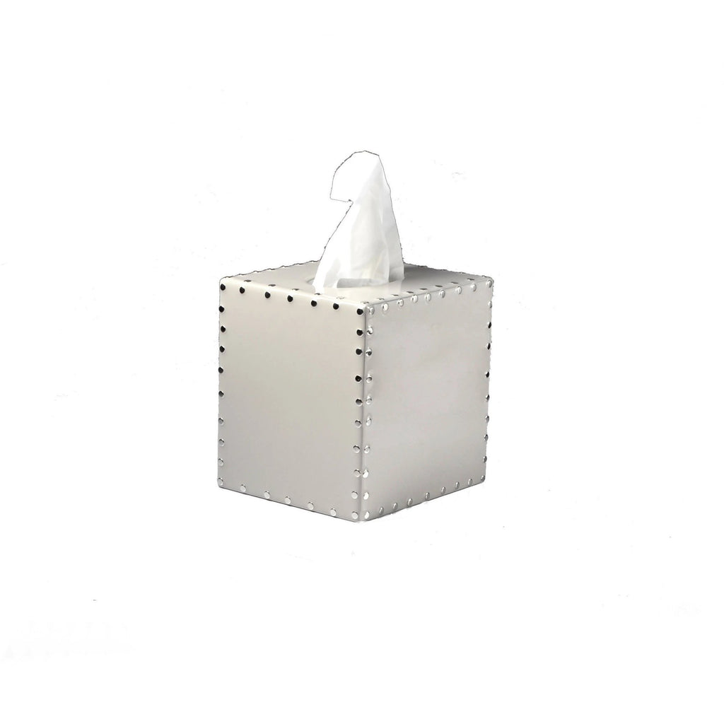 Fig Linens - Mike + Ally Aero Pearl Grey Boutique Tissue Box Cover