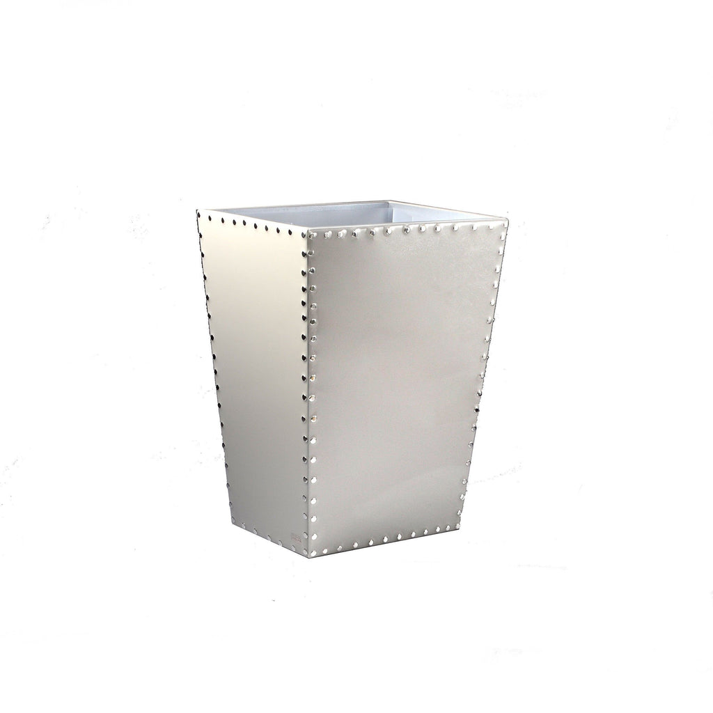 Fig Linens - Mike + Ally Aero Pearl Grey Wastebasket