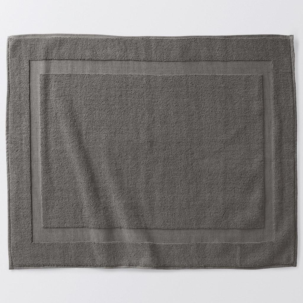 Air Weight Slate Organic Bath Mat by Coyuchi | Fig Linens