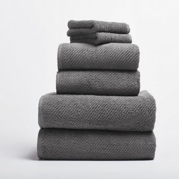 Air Weight Slate Organic Bath Towels by Coyuchi | Fig Linens