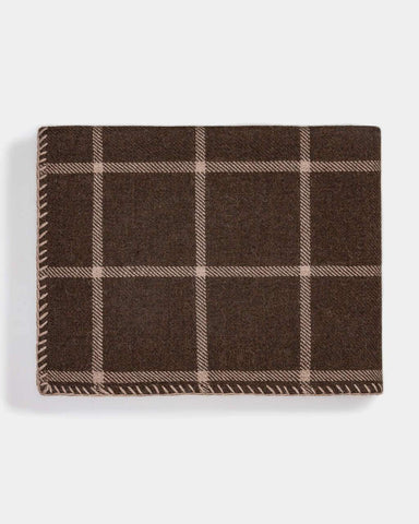 Graydon Alpaca Throw in Chocolate and Taupe by Alicia Adams
