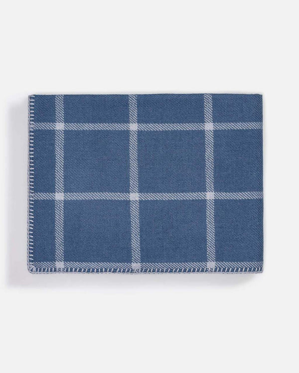 Graydon Alpaca Throw in English Manor and Chambray by Alicia Adams