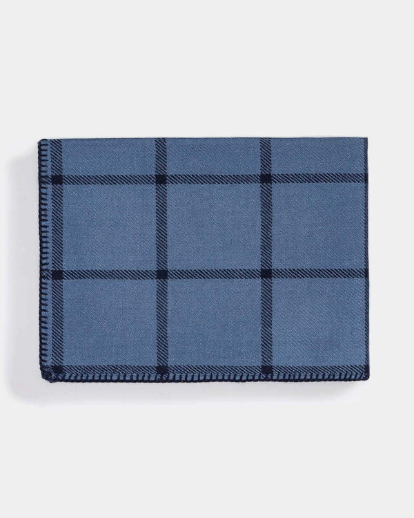 Graydon Alpaca Throw in English Manor and Navy by Alicia Adams