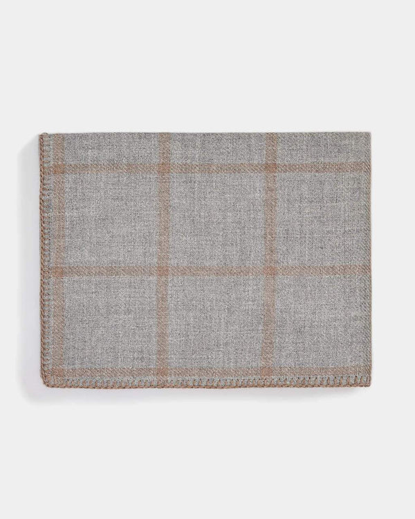 Graydon Alpaca Throw in Light Grey and Taupe by Alicia Adams