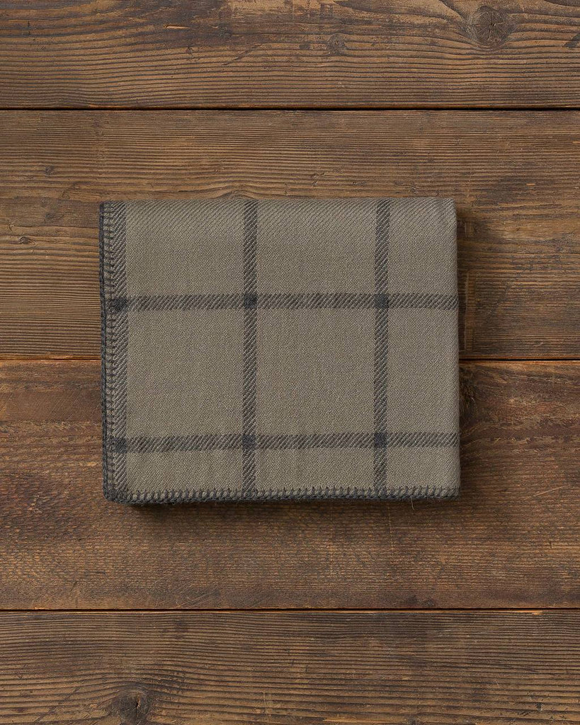 Graydon Alpaca Throw in Moss and Charcoal by Alicia Adams