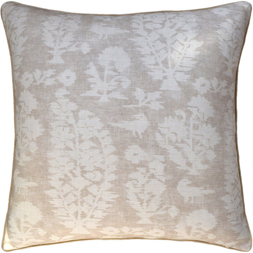 Allaire Beige Decorative Pillow- Fig LInens Neutral Pillow Cushion