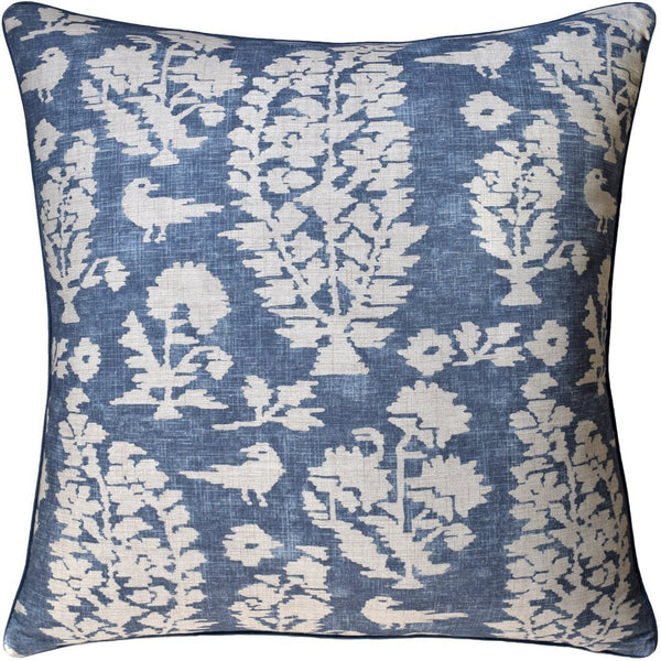 Allaire Slate Blue Decorative Pillow - Fig Linens Blue Pillows