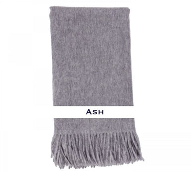 100% Cashmere Plain Weave Throw by Alashan ash