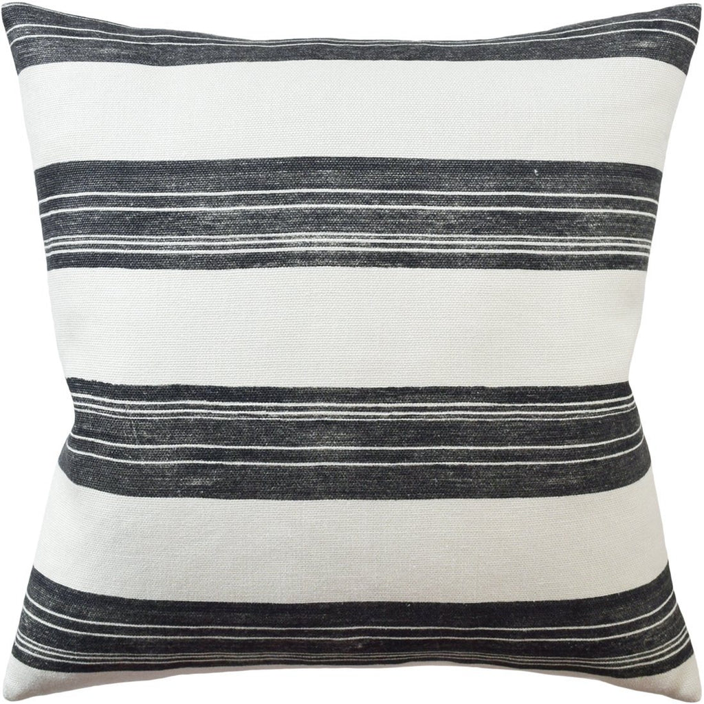 Askew Pillow - Ivory and Onyx
