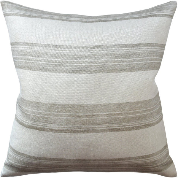 Askew Ivory and Taupe Pillow
