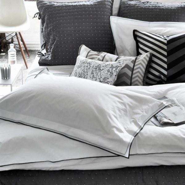Astor Charcoal and Dove Bedding by Designers Guild