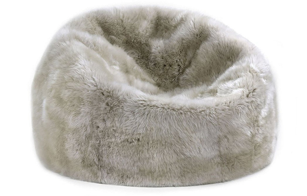 Sheepskin Bean Bag in Linen