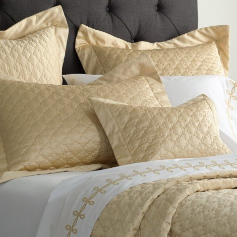 Champagne Ava Quilts & Shams by Matouk - Fig Linens and Home