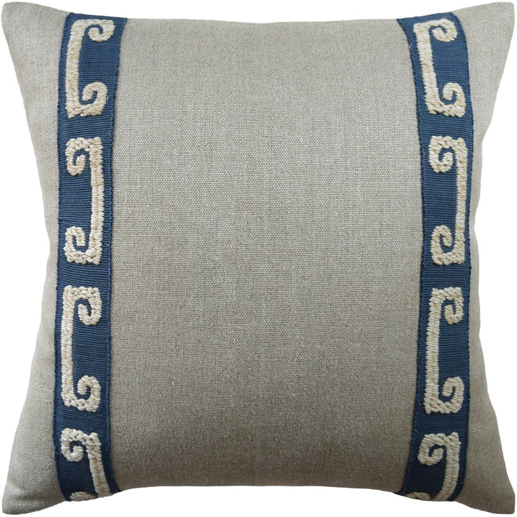 Boheme Tape Indigo Pillow - Ryan Studio at Fig Linens and Home
