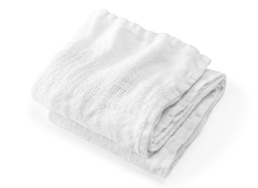 Bradbury White Linen Bath Towels by Brahms Mount | Fig Linens