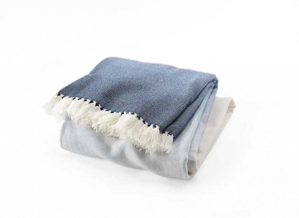 Palermo Indigo Ombre Throw - Brahms Mount