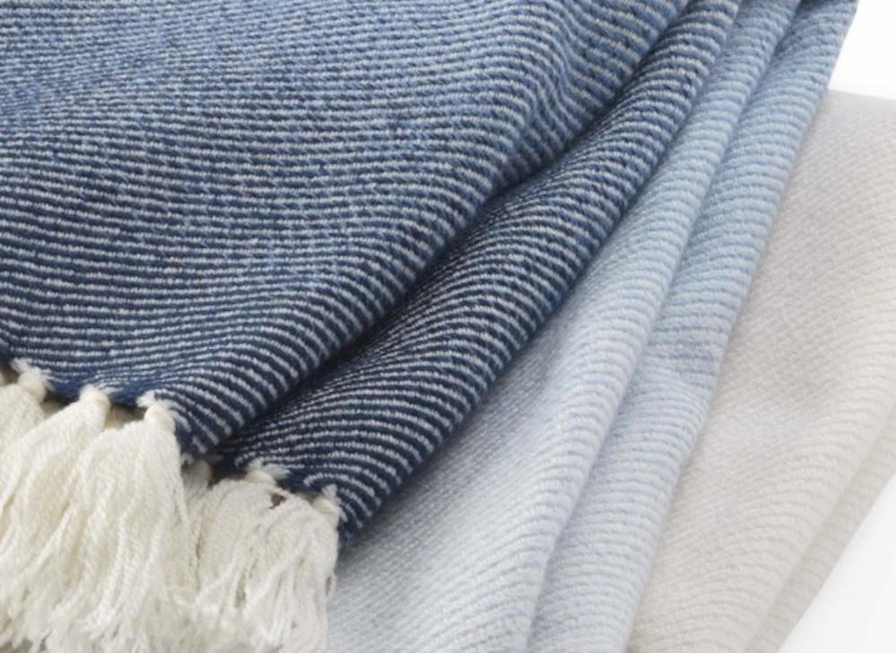 Palermo Indigo Ombre Throw - up-close - Brahms Mount
