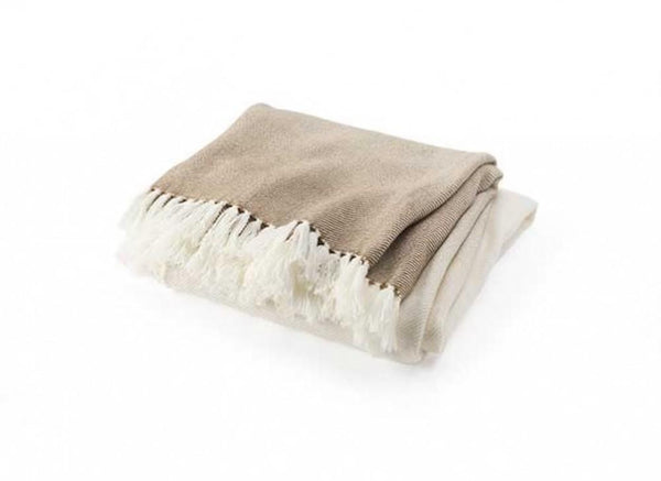 Palermo Oatmeal Ombre Throw - Brahms Mount