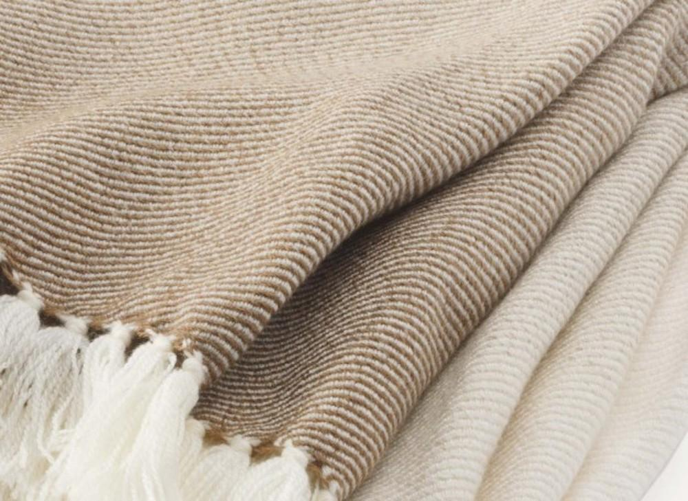 Palermo Oatmeal Ombre Throw -up-close -  Brahms Mount