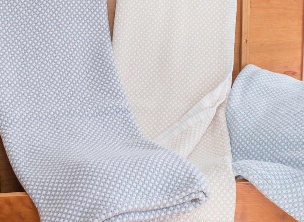 Edgecomb Cotton Blankets by Brahms Mount | Fig Linens and Home