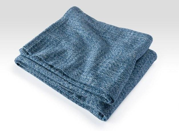 Indigo Sebasco Cotton Blanket by Brahms Mount | Fig Linens and Home