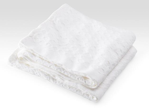 White Vanburen Cotton Blanket by Brahms Mount | Fig Linens and Home