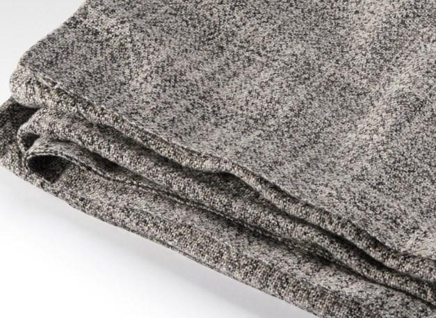 Sebasco Granite Gray Cotton Blanket by Brahms Mount | Fig Linens and Home