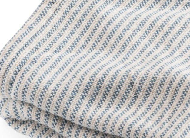 French Blue Winslow Cotton Blanket by Brahms Mount | Fig Linens