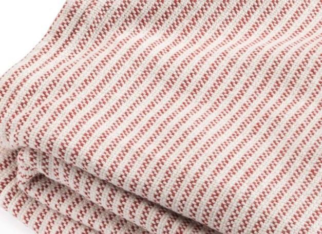 Madder Red Winslow Cotton Blanket by Brahms Mount | Fig Linens