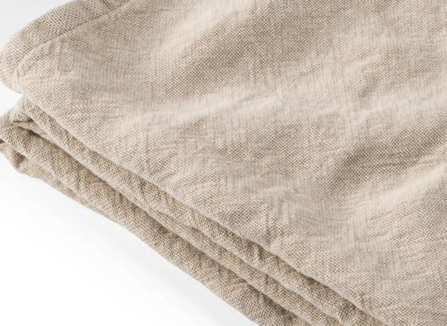 Fig Linens - Brahms Mount - Calendar Island Linen Blanket in Natural