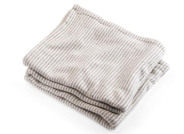Winslow Stone Cotton Blanket by Brahms Mount | Fig Linens