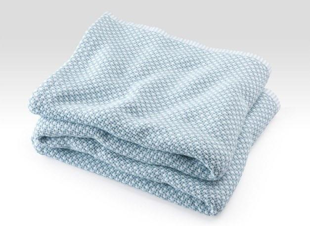 Fig Linens - Brahms Mount - Edgecomb Cotton Blanket - Shore