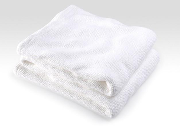 Fig Linens - Brahms Mount - Edgecomb Cotton Blanket - White
